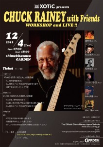 XOTIC Present Chuck Rainey with Friends Work Shop and Live