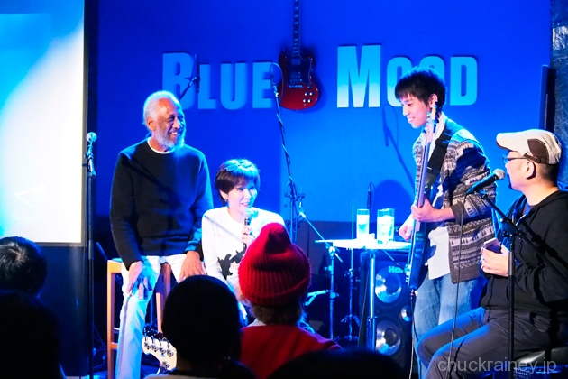 XOTIC Presents 『Chuck Rainey ベースクリニック@BLUE MOOD』